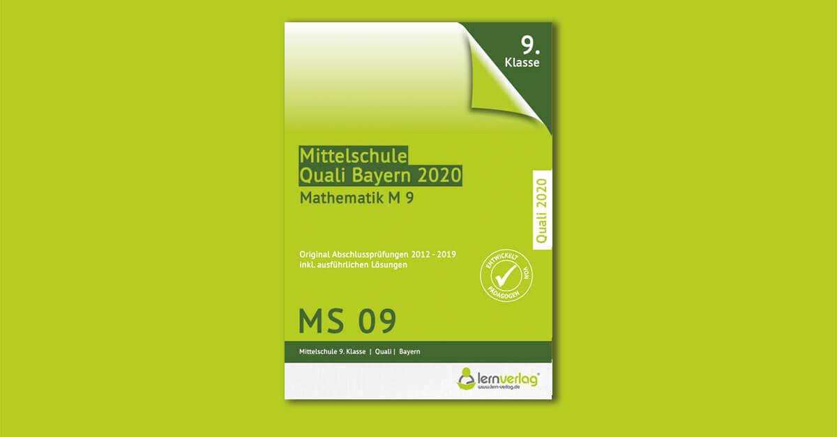 Original Abschlussprüfungen Mathematik Mittelschule Quali Bayern 2020